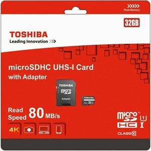 Toshiba 32/16 GB mircoSDHC UHS-I Card with Adapter *** 6 x 32GB and 6 x 16GB ***