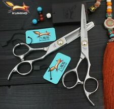 "Kumiho Japan 440c  professional hairdressing scissors 6"" cutting & thinning set"