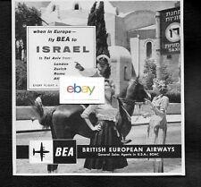 BEA BRITISH EUROPEAN 1959 VISCOUNTS TO ISRAEL FROM LONDON AD