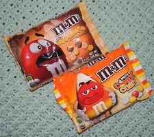 M&M's Candy Halloween Butterscotch and Candy Corn Candies! 2 bags, 8 oz. each