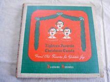 "(3) 78'S ""18 FAVORITE CHRISMAS CAROLS"" THE CAROLLERS BOX SET - BLUEBIRD - 1941"
