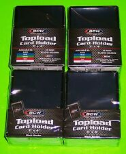 100 TOPLOAD CARD HOLDER - BLACK BORDER,FOR TRADING CARDS,12M 3 X 4 RIGID PLASTIC