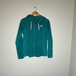 The North Face Women M Green Blue Full Zip Lightweight Tri Blend Fleece Hoodie