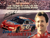 John Andretti Autographed 8x10 Racing Photo