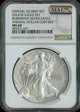 2014-W SILVER EAGLE NGC MAC MS-69 PQ ANNUAL SET 2nd FINEST GRADE SPOTLESS *