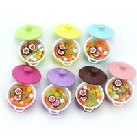 Puppenhaus Miniatur Bunt Suppentopf Model Geschirr DIY Kochzubehör Hohe Qualität