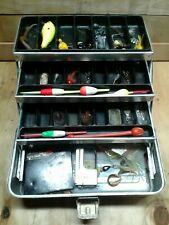 Vintage Umco Corporation Tackle Box with Tackle, Lures