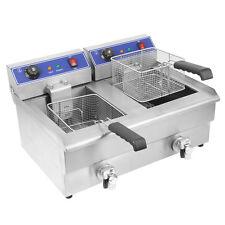 Doppio serbatoio elettrico 16L friggitrice elettrica 220V Fast Food Commercial