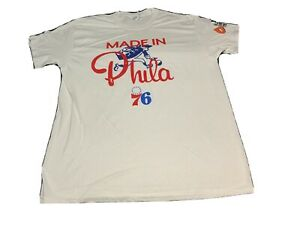 "Philadelphia 76ers Sixers  "" Made In Phila"" Shirt  Size L. SGA"