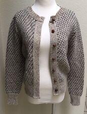 Vtg WOOLRICH Womens Blue Berry Cardigan Sweater Wool Long Sleeve Size Medium