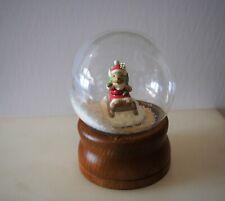 Vtg Snow Dome Globe San Francisco Music Box Co. Santa Mouse Snowdome Snowglobe