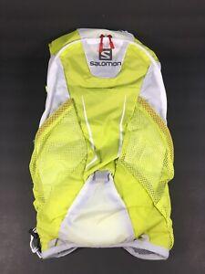 Salomon Agile 12 Hydration Hiking Backpack Set Gecko Green Yellow White Grey NEW
