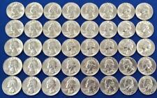 40 1963-D US 90% Silver Washington 25c BU Roll L8458