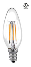 LED 6W Chandelier Filament Bulbs, E12 2700K, UL Listed 1 PC