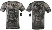 XTREME COUTURE by AFFLICTION Mens T-Shirt OIL SILCK Skulls Biker MMA Gym  $40