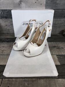 Jimmy Choo Peep Toe, Sling Backs Size 4