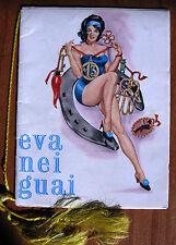 AUGUSTA - CALENDARIETTO da BARBIERE del 1966 - EVA NEI GUAI - PIN UP