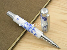 Jinhao Blue And White Porcelain Penoy Flower Painting Ceramic Rollerball Pen