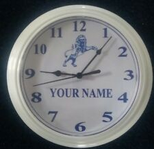 Millwall F.C personalised clock.  IDEAL GIFT.