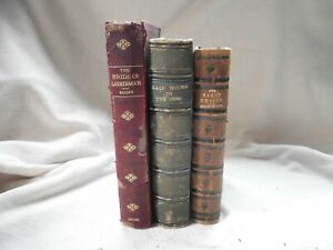 OLD ANTIQUE FINE BINDING BOOK BUNDLE LAMMERMOOR EARLY CHOICE HALF HOUR DEEP (3)