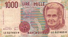 BANCONOTA ITALIANA DA 1000 LIRE MONTESSORI LE 527463 H SC-7