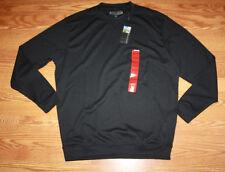 NWT Mens PEBBLE BEACH Performance Black Long Sleeved Crew Neck Shirt Sz M Medium