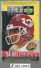 1994 Collectors Choice Football box made by Upper Deck
