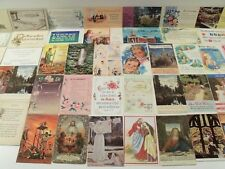 SUNDAY SCHOOL & OTHER CHRISTIAN POSTCARD LOT 50 STD CIRCA 1907-1960s MOST CHROME