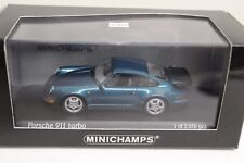 Minichamps Porsche 911 Turbo 964 1990 Türkis metallic 1:43 NEU Limited Edition