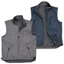 Reversible Bodywarmer Gilet Waistcoat Jacket Fleece Work Outdoors Fishing S418
