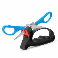 2 In 1 Professional Blade Knife Scissors Sharpener Kitchen Tool w Hand Guard New