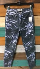 *NEW* Free People Women's Skinny Jeans Size 24(0) Blue Printed 61855-16515125