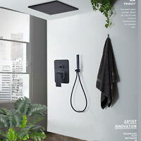 """Ceiling Mounted Shower System 8"""" Rainfall With Hand Shower Mixer Tap Oil Rubbed"""