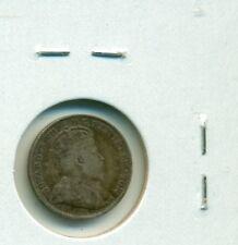 CAP Canada 5 cents 1910 Round Lvs Fine