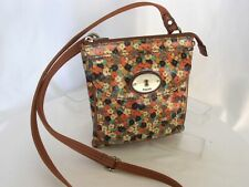FOSSIL Key-Per Small Coated Canvas Convertible Everyday Crossbody Shoulder Bag