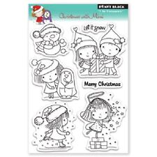 PENNY BLACK RUBBER STAMPS CLEAR CHRISTMAS WITH MIMI 7 TRANSPARENT CHRISTMAS SET