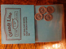 "Grandt Line O #34 (18"" Railcar Wheels Cast Iron 9 Spoke"