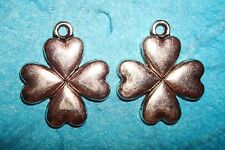 Pendant Flower Charm 4-Leaf Clover Heart Flower Lucky Charm Irish Good Luck Sign
