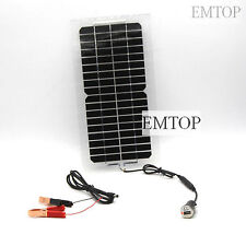 Waterproof 5W 12V Portable SOLAR TRICKLE BATTERY CHARGER  REGULATOR car RV