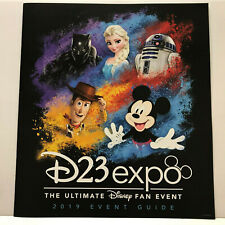 2019 D23 Expo Event Guide with Mickey, Woody, Elsa, R2D2 & Black Panther