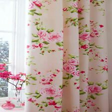 "Catherine Lansfield Canterbury Floral Pencil Pleat Lined Curtains, 66"" x 72"""
