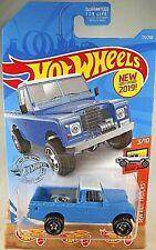 2019 Hot Wheels #111 Hot Trucks 3/10 LAND ROVER SERIES lll PICKUP Blue Variation