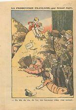 Caricature Politique Anti-Nazis Blé Vin de l'Or Berceaux Vides Allemagne 1935