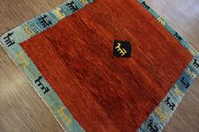 140-Wunderschöner Original Persischer Gabbeh,138x128 cm²,Carpet,Teppich,Tappeto
