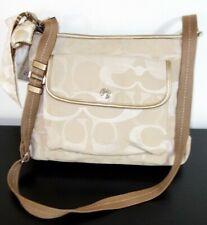 COACH Signature Crossbody Shoulder Bag Canvas Beige