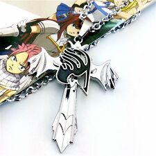 Anime Fairy Tail Guild Marks Silver Cross Wing Pendant Necklace Cosplay Gifts