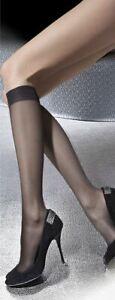 Sheer Hosiery Knee Highs Pola 15 Denier Two Pack Nylon Knee High