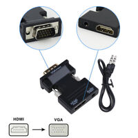 HDMI Female to VGA Male W/ Audio Converter Adapter Support 1080P Signal Output