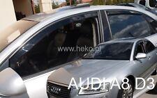 AUDI A8 D3 4 DOOR 2003-2010  WIND DEFLECTORS 4pc HEKO TINTED