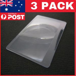 3pcs Credit Card Size 3*Magnifier Reading Magnifying Glass Pocket Magnifier GTAU